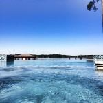 infinity pool edge and lake seamless water