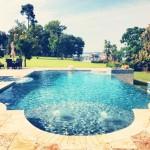 long view of pool